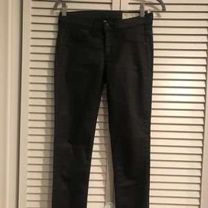 Rag & Bone Skinny Jeans in Black Sateen